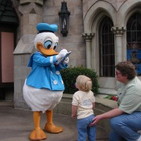 Donald Duck Autograph Signing