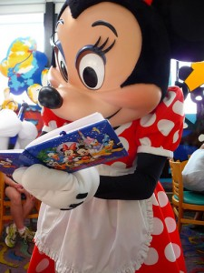 Minnie Mouse autograph signing