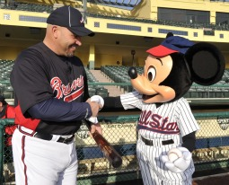 Mickey Mouse at Braves' Spring Training