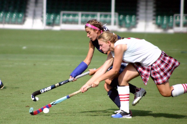 Field Hockey Players Duke it Out ©The Walt Disney Company