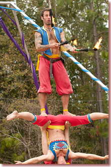 Acrobats Hoggetowne Medieval Fair