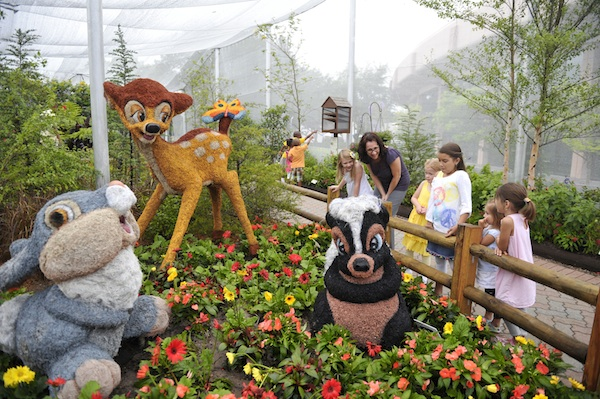 Bambi in flowers ©Epcot International Flower and Garden Festival