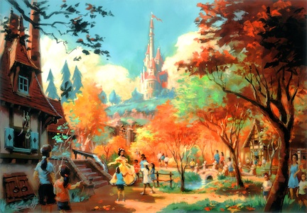 An artist's rendering of Belle's Cottage ©The Walt Disney Company