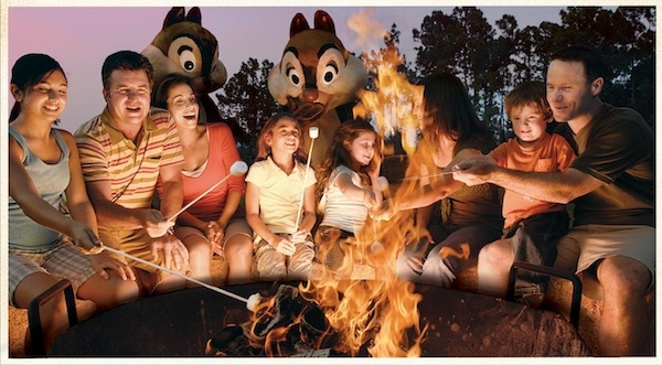 Chip & Dale campfire ©The Walt Disney Company
