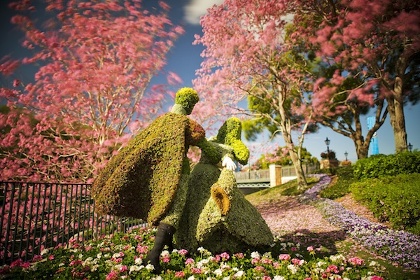 Dancing in flowers! ©The Walt Disney Company