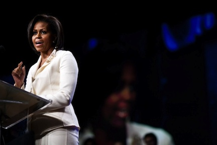 Michelle Obama discusses Let&#039;s Move! Lawrence Jackson