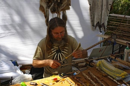 2011 vendor at work ©Stone Age and Primitive Arts Festival