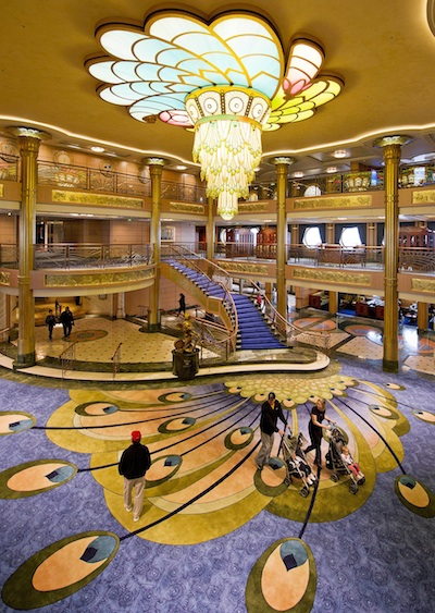 Disney Fantasy Atrium Lobby © The Walt Disney Company
