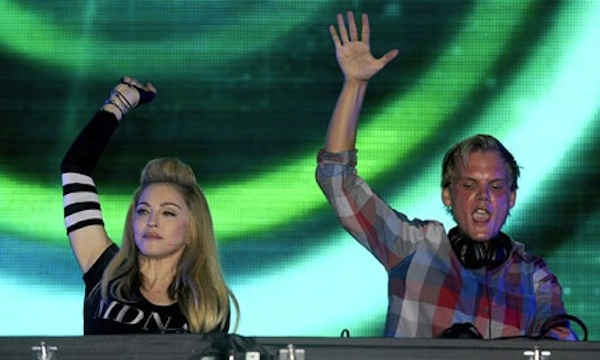 Madonna and DJ Avicii at the Ultra Music Festival in Miami &#169 Tim Mosenfelder