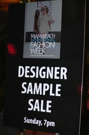 Sample Sale &#169 Miami Beach International Fashion Week