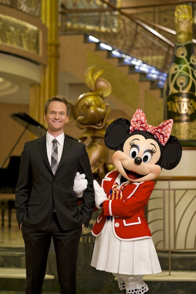 Neil Patrick Harris with Minnie Mouse copyright The Walt Disney Company