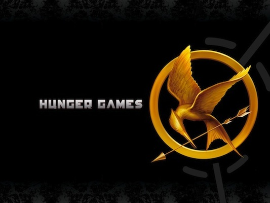 """The Hunger Games"" is now playing!"