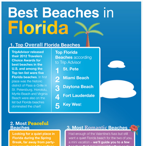 Florida Beaches Infographic &#169 HolidayTripper.com