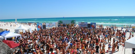 Spring Break Partying &#169 Panama City Beach CVB