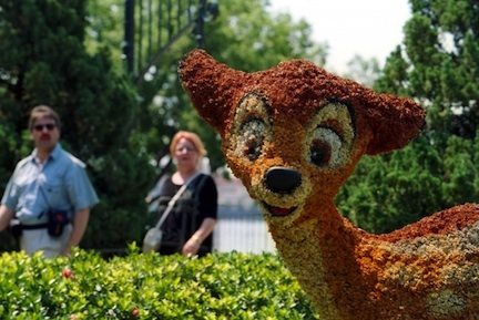 Bambi topiary @ The Walt Disney Company
