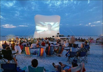 A movie on the beach @ Fort Myers Beach Film Festival