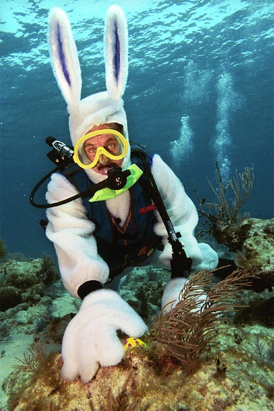 Underwater Easter Egg Hunt, Captain Spencer Slate. (AP Photo/Florida Keys News Bureau, Bob Care)
