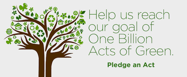 Billion Acts of Green Pledge  &#169 Earthday dot org
