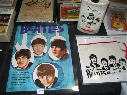Beatles paraphernalia (credit: West Palm Beach Antiques Festival)