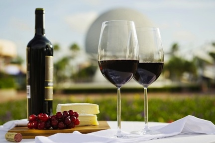 Wine and cheese at Epcot (credit: The Walt Disney Company)