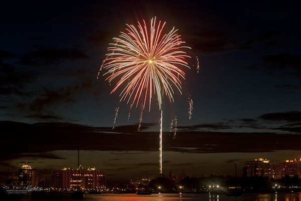 Fourth of July Fireworks on Sarasota Bay (credit: Selby Gardens)