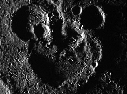 Mickey Mouse on Mercury (credit: NASA/Johns Hopkins University Applied Physics Laboratory/Carnegie Institution of Washington)