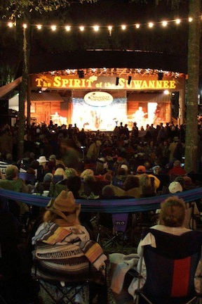 The stage (credit: Spirit of the Suwannee)
