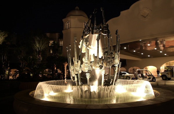 Hard Rock Hotel Guitar Fountain (credit: Universal Orlando Resort)