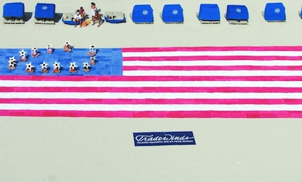 Flag of towels (credit: TradeWinds Island Resorts on St. Pete Beach)