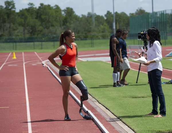 April Holmes training for the Paralympics (credit: Walt Disney World Company)
