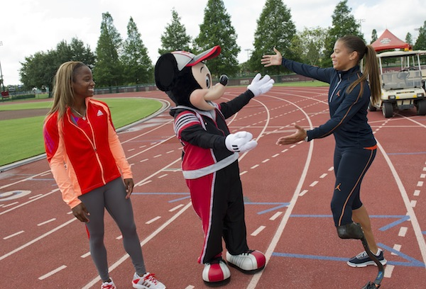 April Holmes and Mickey Mouse (credit: The Walt Disney Company)