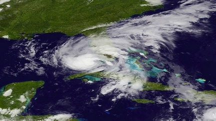 Isaac over Florida (credit: NOAA)
