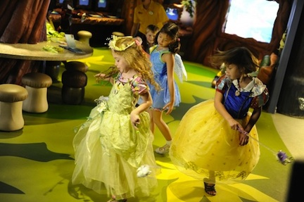 Little princesses at sea (credit: The Walt Disney Company)