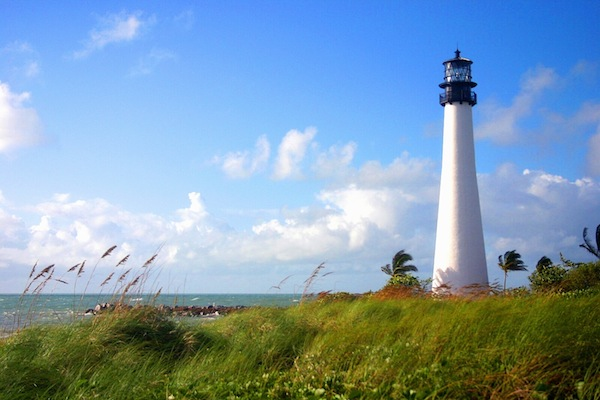 Cape lighthouse at Bill Baggs State Park (credit: Florida DEP)