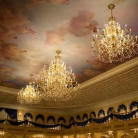 Chandeliers at Be Our Guest Restaurant (credit: The Walt Disney Company)