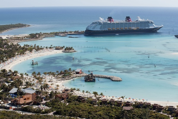 Disney Cruise line at Castaway Cay (credit: The Walt Disney Company)