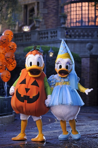 "Donald and Daisy decked out for ""Mickey's Not-So-Scary Halloween Party"" (credit: The Walt Disney Company)"