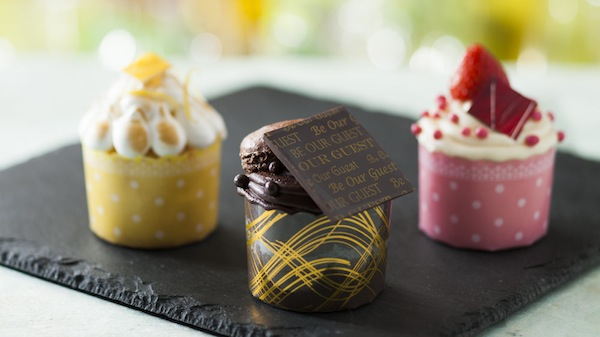Gourmet cupcakes at Be Our Guest Restaurant (credit: The Walt Disney Company)
