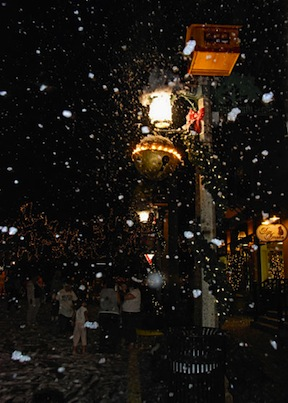 Snow in Florida (credit: Celebration Town Center)